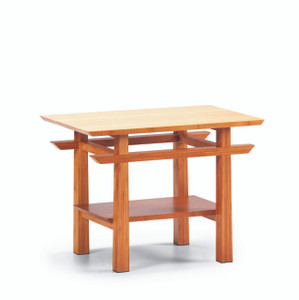 Lotus End Table   Caramelized