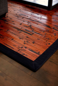 Nice Cobblestone Mahogany Bamboo Area Rug