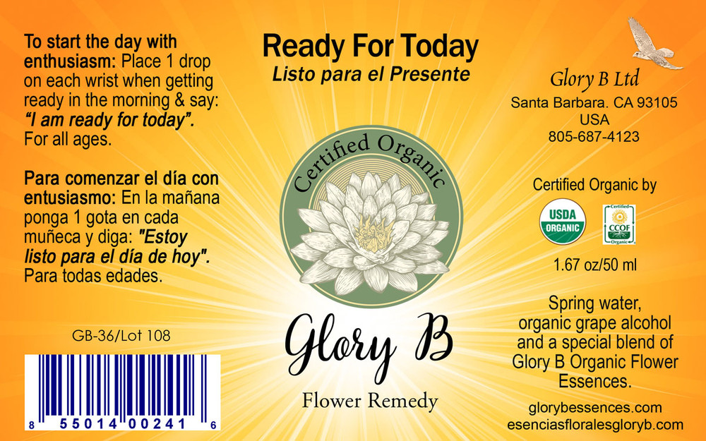 READY FOR TODAY Organic Flower Remedy