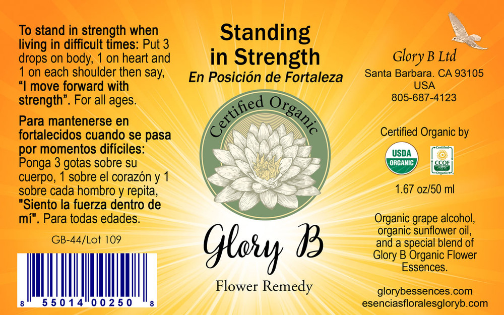 STANDING IN STRENGTH Organic Flower Essence Blend