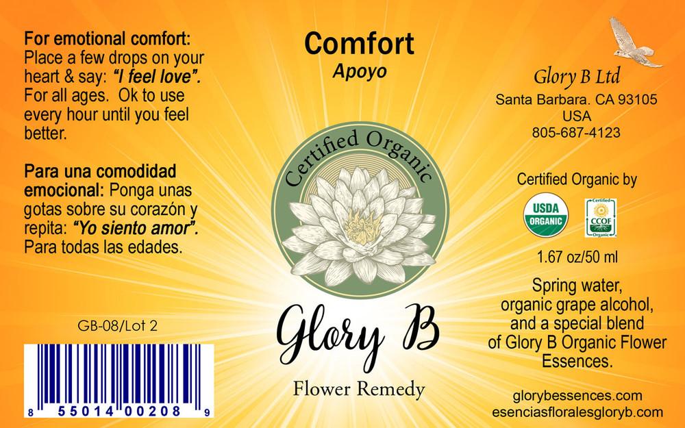 COMFORT  Organic Flower Essence Blend