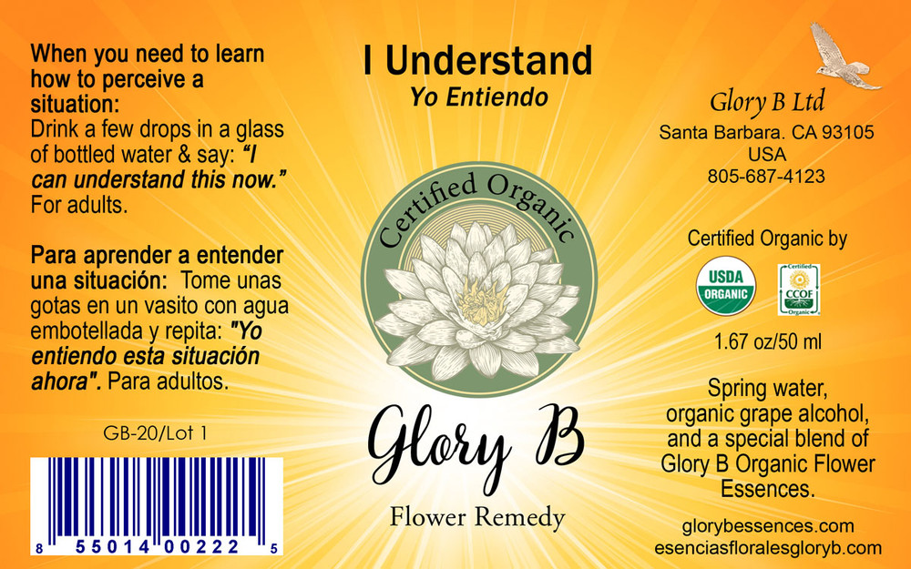 I UNDERSTAND Organic Flower Essence Blend