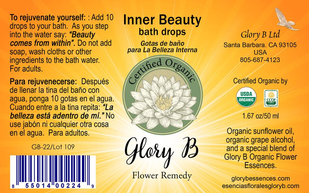 INNER BEAUTY BATH DROPS Organic Flower Essence Blend