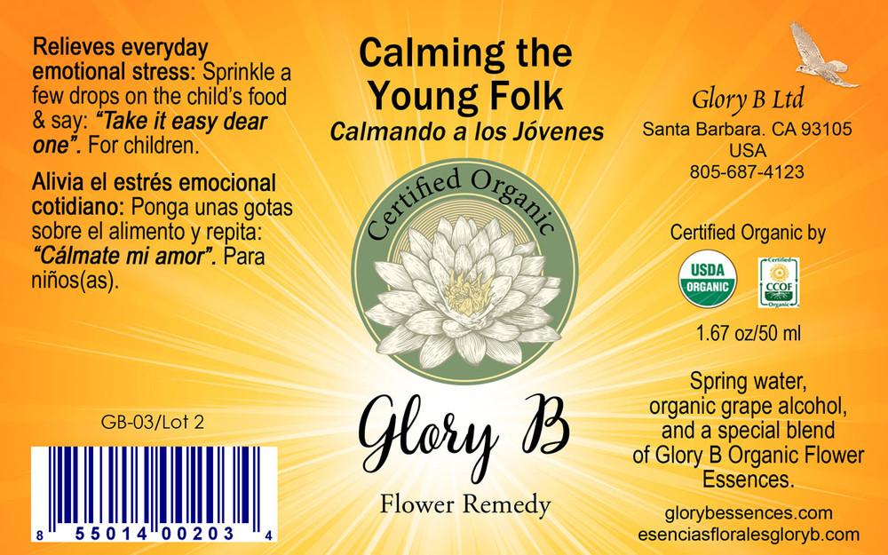 CALMING THE YOUNG FOLK Organic Flower Essence Blend