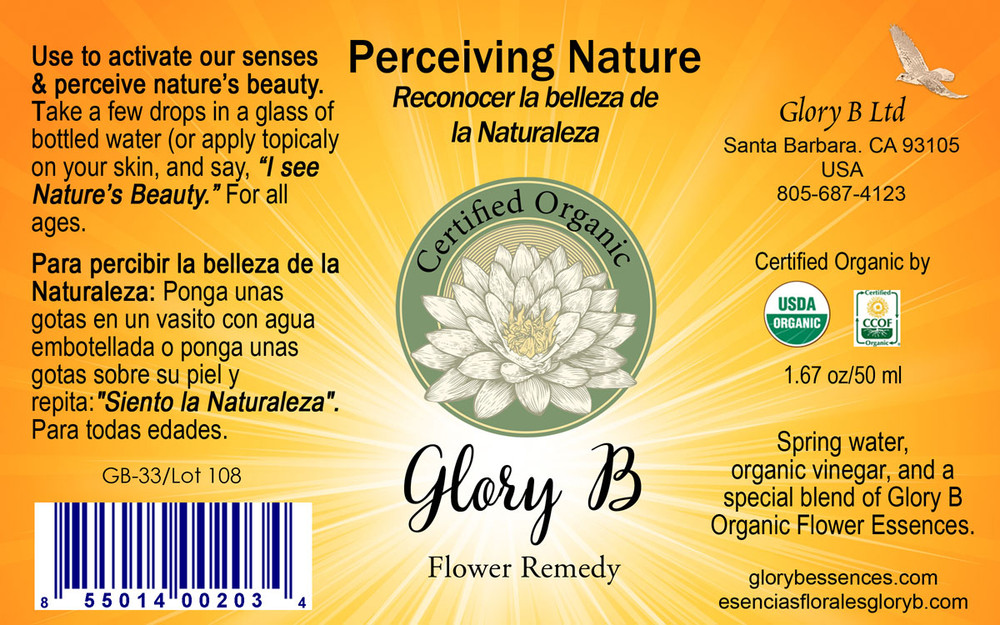 PERCEIVING NATURE Organic Flower Essence Blend