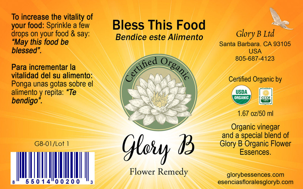 BLESS THIS FOOD Organic Flower Remedy