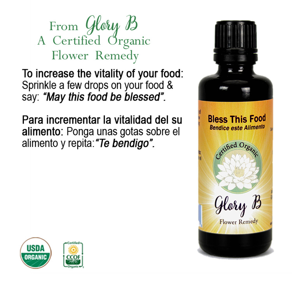 BLESS THIS FOOD Organic Flower Essence Blend