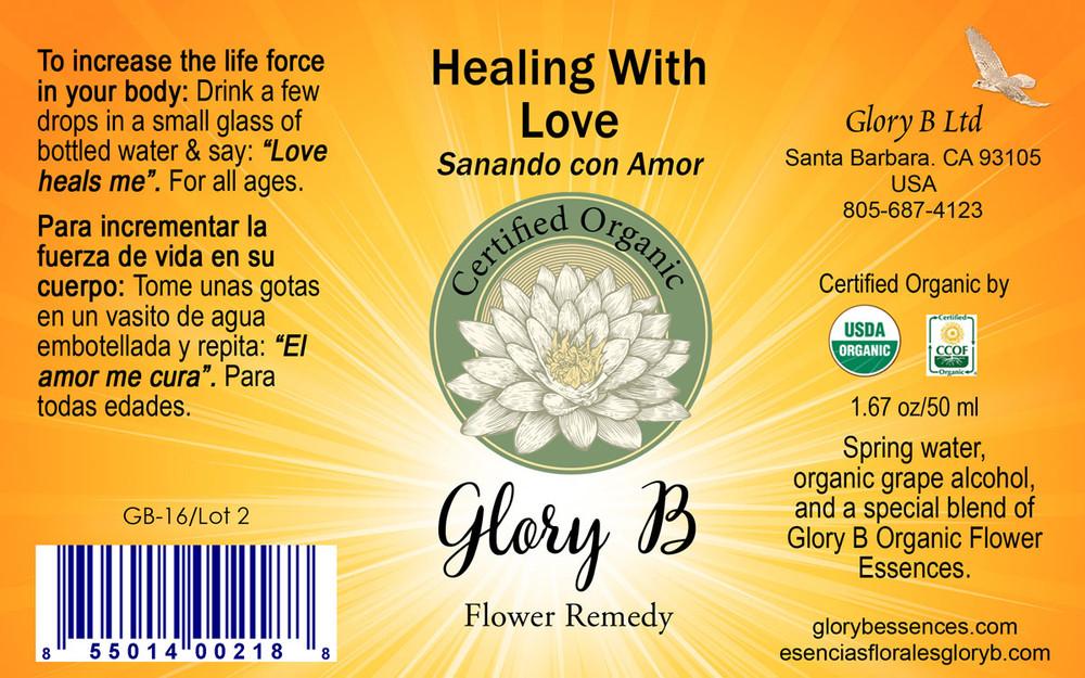 HEALING WITH LOVE Organic Flower Essence Blend
