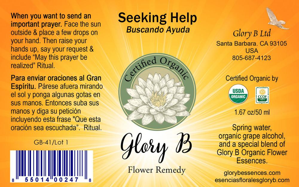SEEKING HELP Organic Flower Remedy