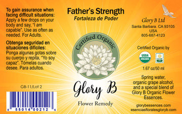 FATHER'S STRENGTH Organic Flower Remedy