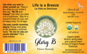 LIFE IS A BREEZE Organic Flower Essence Blend