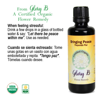 BRINGING PEACE Organic Flower Essence Blend