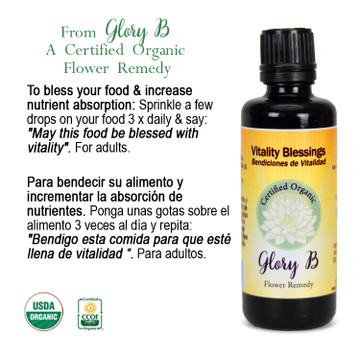 VITALITY BLESSINGS Organic Flower Essence Blend