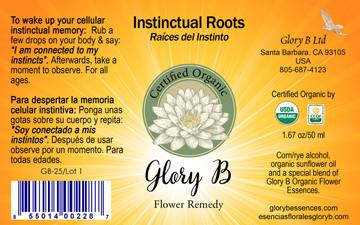 INSTINCTUAL ROOTS Organic Flower Essence Blend