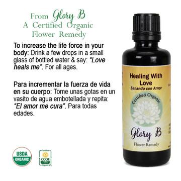 HEALING WITH LOVE Organic Flower Remedy