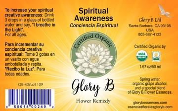 SPIRITUAL AWARENESS Organic Flower Remedy