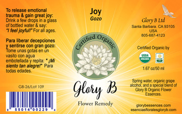 JOY Organic Flower Essence Blend