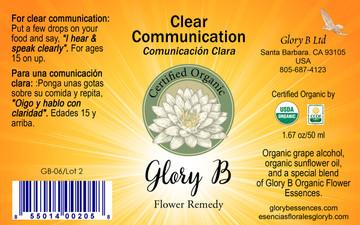 CLEAR COMMUNICATION Organic Flower Essence Blend