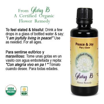 PEACE AND JOY Organic Flower Remedy