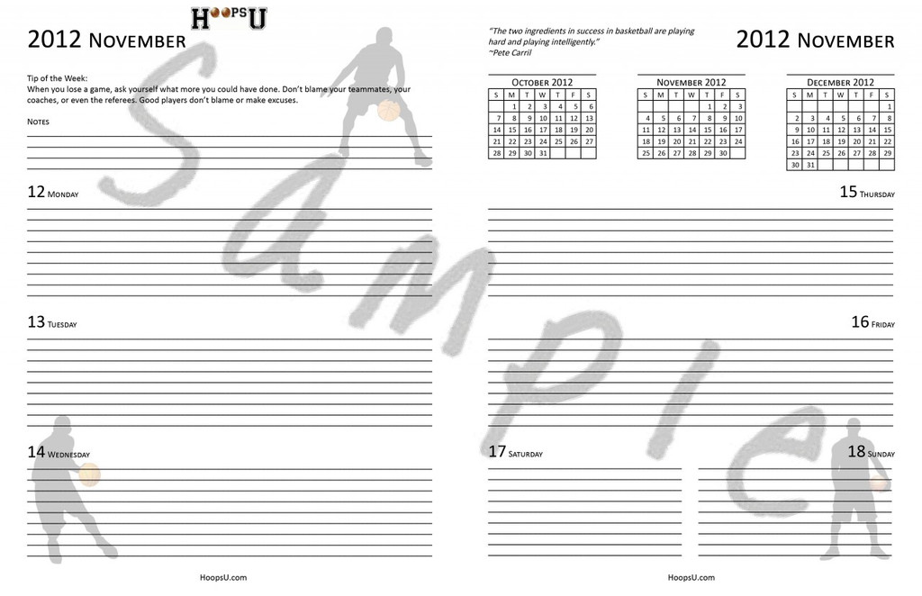 Weekly Spread Inside the Coaches Planner
