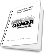 Basketball Scouting Report Notebook with a custom cover.