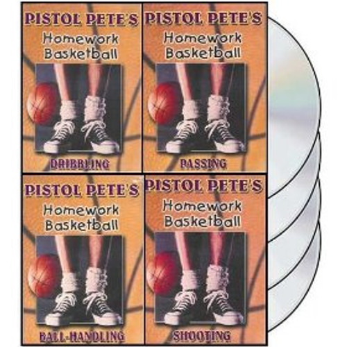 Pistol Pete's Homework Basketball 4 DVD Set