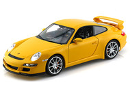 Porsche 911 ( 997 ) GT3 Yellow 1/18 Scale Diecast Car Model By Welly 18024