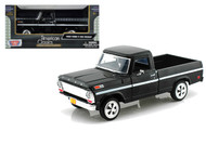 1969 Ford F-100 Pickup Truck Black 1/24 Scale Diecast Model By Motor Max 79315