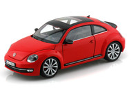 Volkswagen New Beetle With Sunroof Red 1/24 Scale Diecast Car Model By Welly 24032