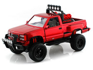 Motor Max 1/24 Scale 1992 GMC Sierra GT Pickup Truck Off Road Red Diecast Model 79136