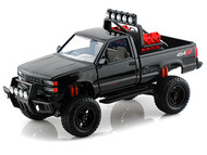 1992 Chevy 454 SS Pickup Truck Off Road Black 1/24 Scale Diecast Model By Motor Max 79134