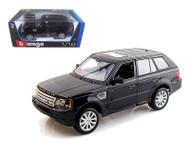 Land Rover Range Rover Sport SUV Black 1/18 Scale Diecast Model By Bburago 12069
