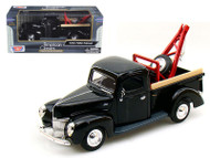 1940 Ford Pick Up Tow Truck Black 1/24 Scale Diecast Model By Motor Max 73234