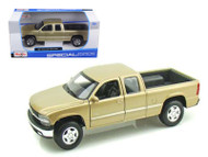 Chevrolet Silverado Extra Cab Truck Gold 1/27 Scale Diecast Model By Maisto 31941