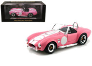 1965 Shelby Cobra 427 S/C Pink Signed By Carroll Shelby 1/18 Scale Diecast Car Model By Shelby Collectibles SC 114