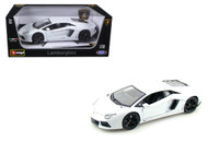 Lamborghini Aventador LP700-4 White 1/18 Scale Diecast Car Model By Bburago 11033