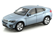 BMW X6 Active Hybrid Blue Water Metallic 1/18 Scale Diecast Model By Kyosho 08763