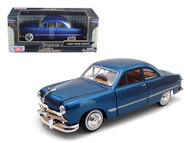 1949 Ford Coupe Blue 1/24 Scale Diecast Car Model By Motor Max 73213