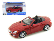 Mercedes Benz SLK Class Metallic Red 1/24 Scale Diecast Car Model By Maisto 31206