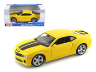 2010 Chevy Camaro SS RS Yellow With Black Stripes 1/24 Scale Diecast Car Model By Maisto 31207