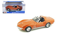 1970 Chevy Corvette Stingray Bronze 1/24 Scale Diecast Car Model By Maisto 31202