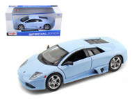 Lamborghini Murcielago LP640 Light Blue 1/24 Scale Diecast Car Model By Maisto 31292