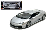 Lamborghini Huracan LP610-4 Silver 1/18 Scale Diecast Car Model By Bburago 11038