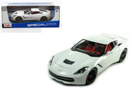2014 Chevy Corvette Z51 Stingray C7 White 1/18 Scale Diecast Car Model By Maisto 31677