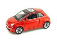 Bburago Star 1/24 Scale Fiat 500 Sunroof Diecast Car Orange 21032