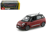 Fiat 500L Red 500 L 1/24 Scale Diecast Car Model By Bburago 22126