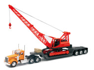Kenworth W900 Big Rig With Construction Crane Semi Truck & Trailer 1/32 Scale By Newray 11293
