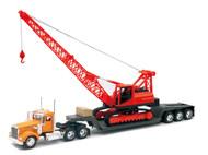 Kenworth W900 Big Rig With Construction Crane Semi Truck & Trailer 1/32 Scale By Newray 11293