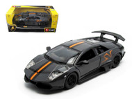 Lamborghini Murcielago LP 670-4 SV Grey 1/24 Scale Diecast Car Model By Bburago 21055