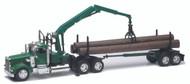 Kenworth W900 Log Trailer Semi Truck & Trailer 1/32 Scale By Newray 13743
